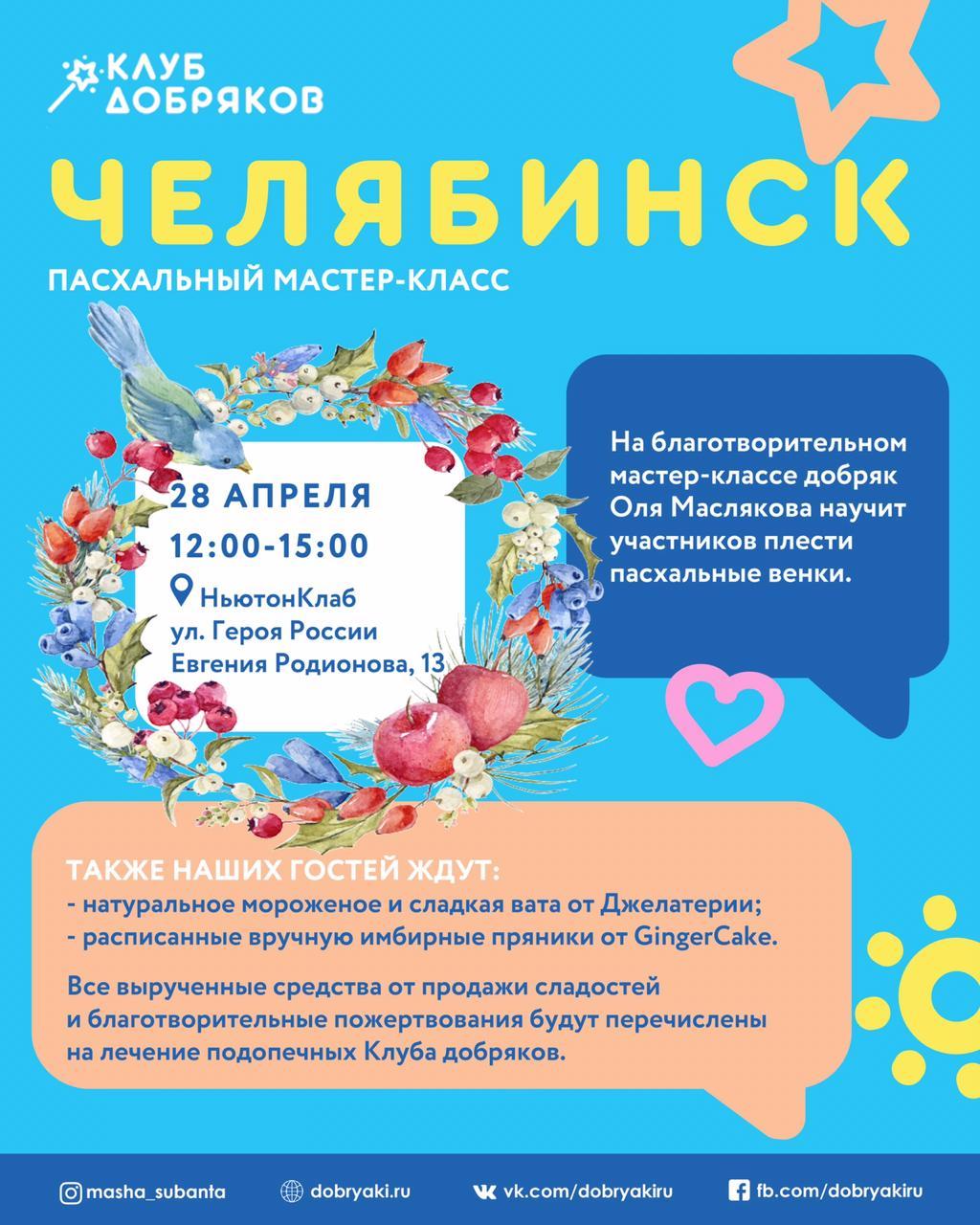 Пасхальный мастер-класс в Челябинске