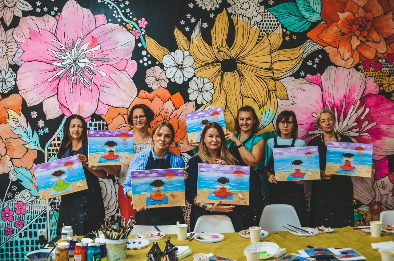 Добряки устроили арт-вечеринку для мам особенных детей