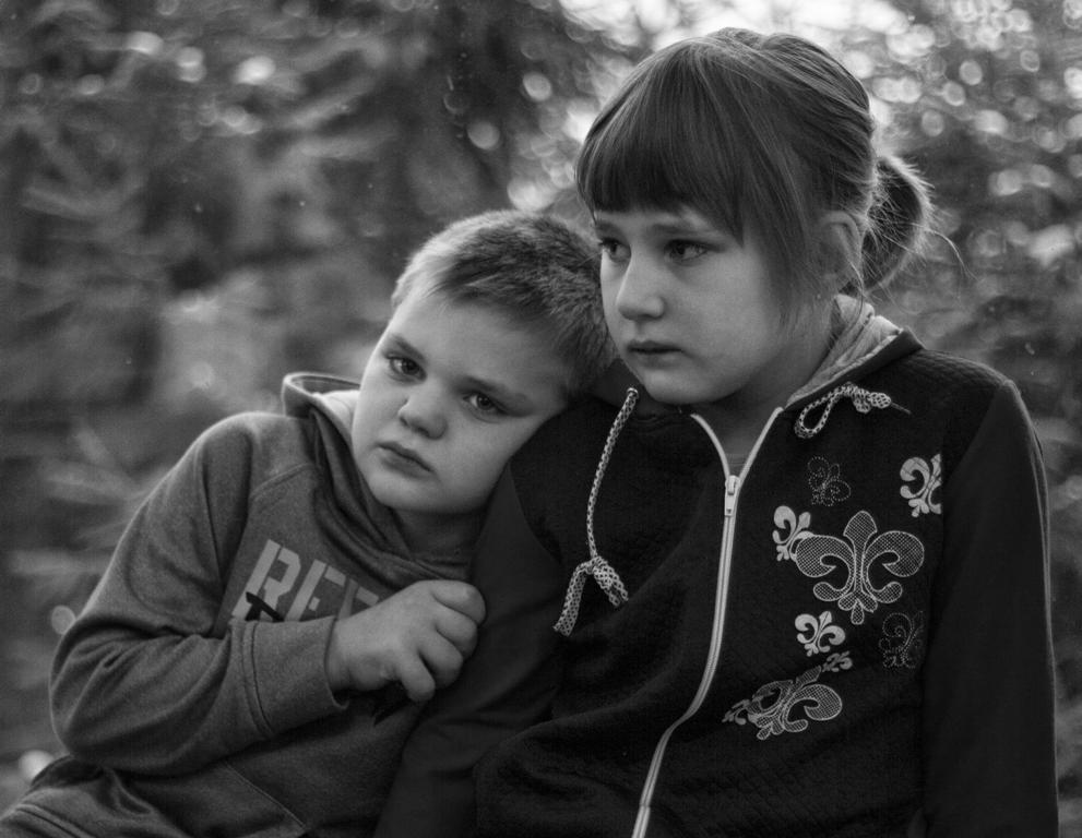 Надя и Ваня Безрукавниковы