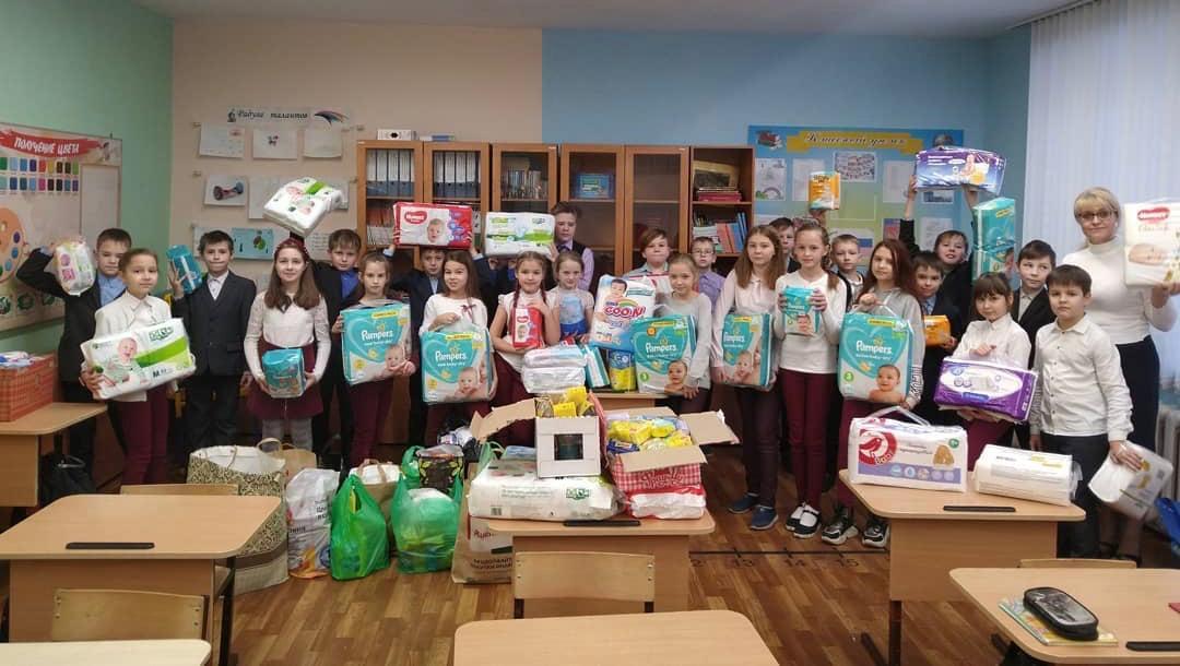 Ученики из Нижнего Новгорода приняли участие в акции по сбору средств гигиены для детей-отказников