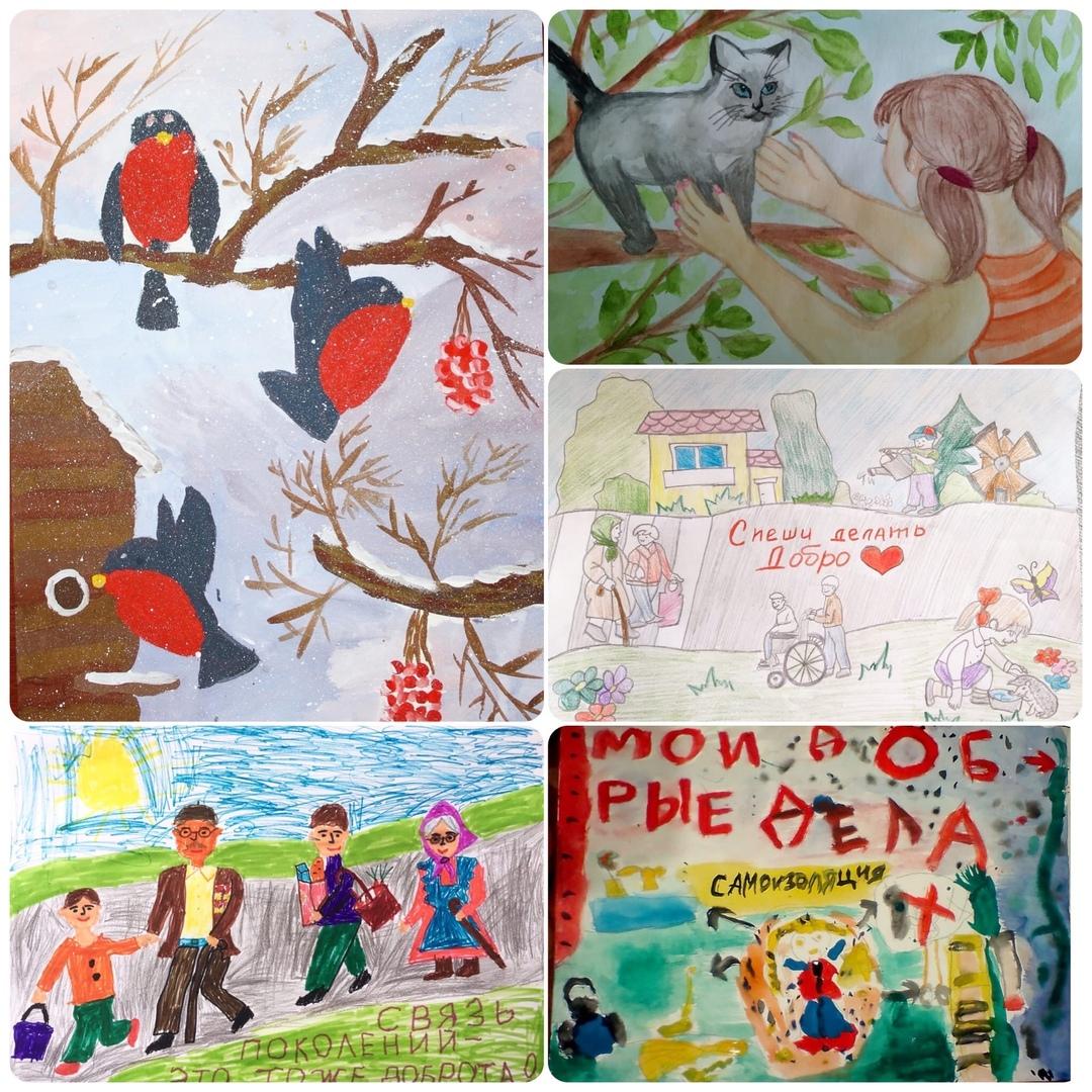 Добряки Архангельска провели конкурс рисунков для детей