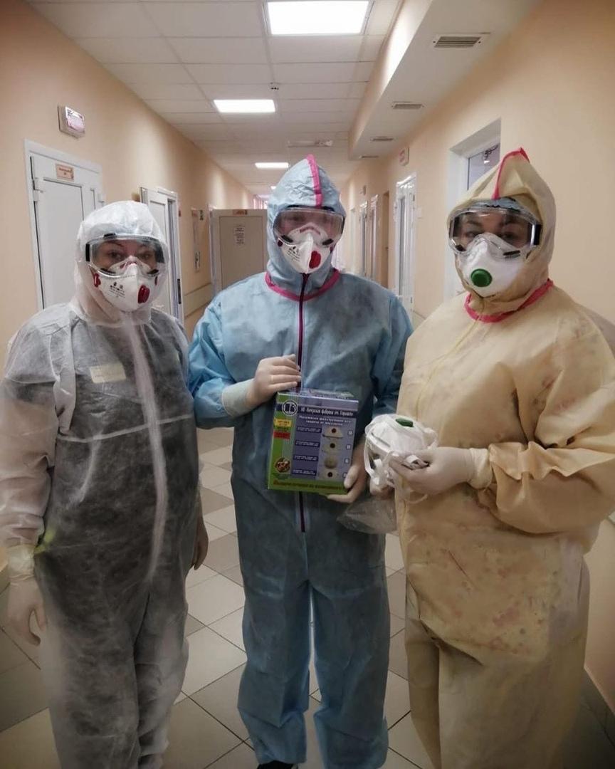 Клуб добряков помог больницам в обеспечении средствами индивидуальной защиты